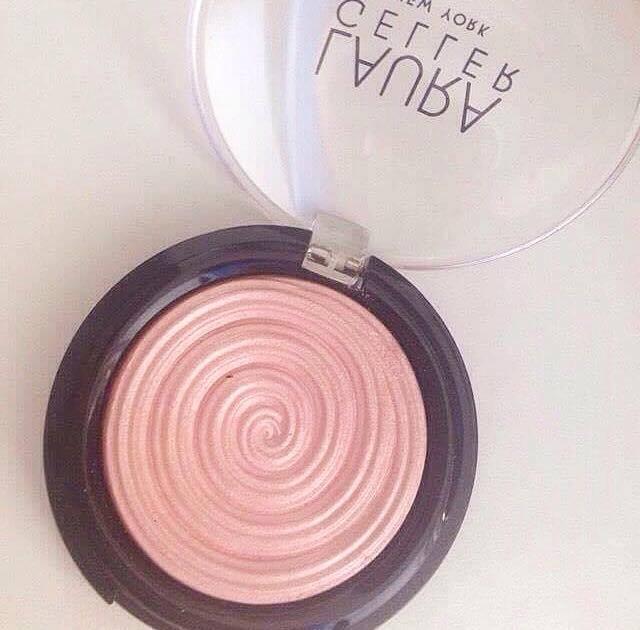 Laura Geller baked gelato swirl illuminator review (Charming Pink)