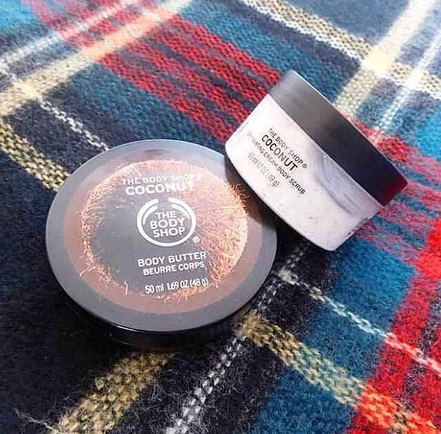 The Body Shop Coconut scrub and body butter review