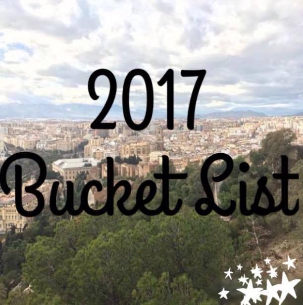 2017 Bucket List!
