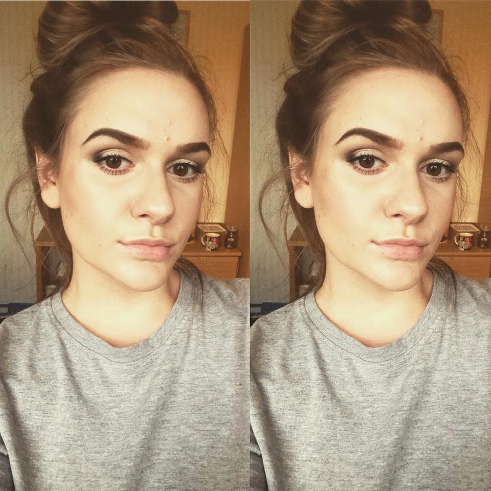 Makeup look using Marks and Spencer's eye shadow!