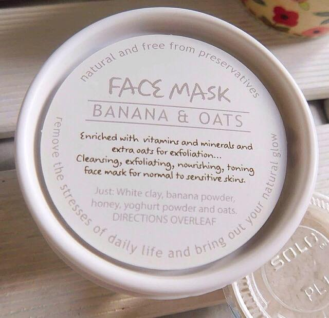 Wild Olive Banana & Oats face mask review