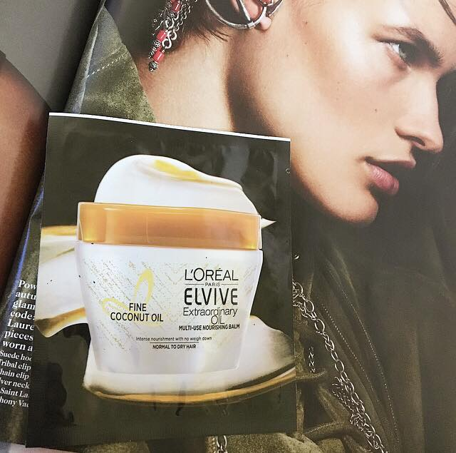 Sample Wednesday: L'oreal Elvive Extraordinary Oil Nourishing Balm Fine Coconut Oil