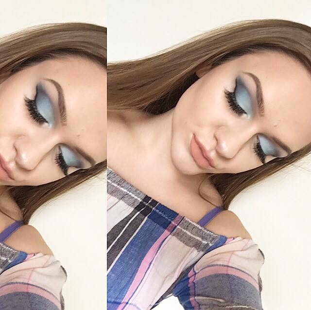 Mermaid vibes makeup look using the NYX 'in your element' wind palette!