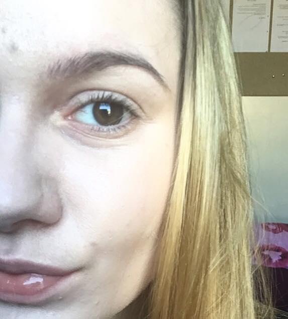 Colorsport eyelash tint close up