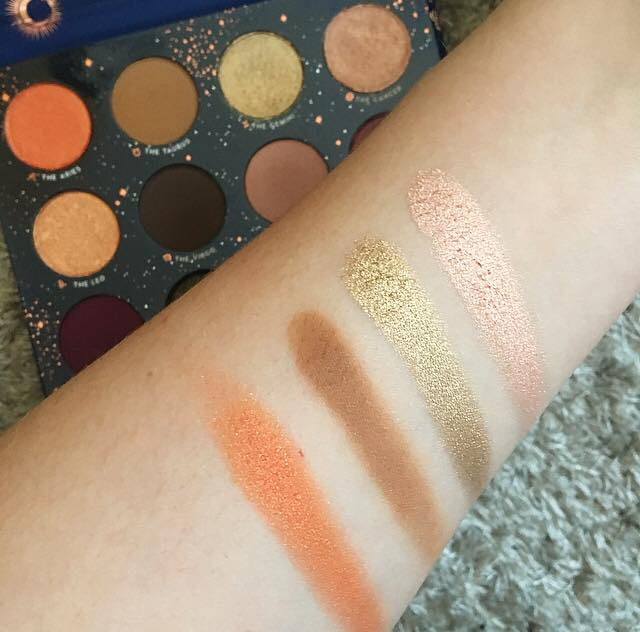 colourpop x kathleen lights zodiac palette row one
