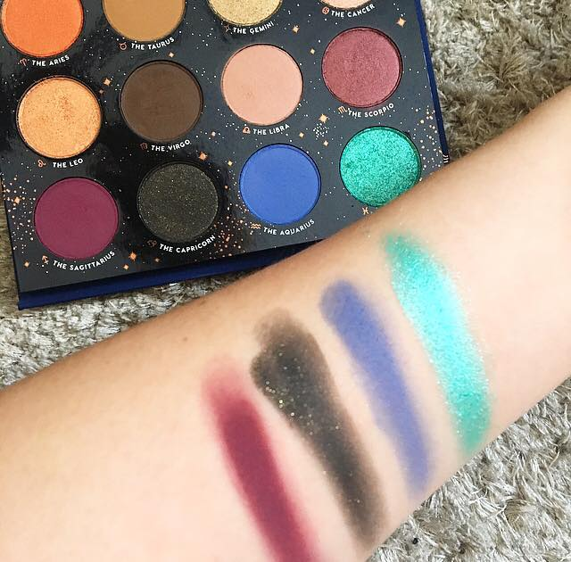 colourpop x kathleen lights zodiac palette row three