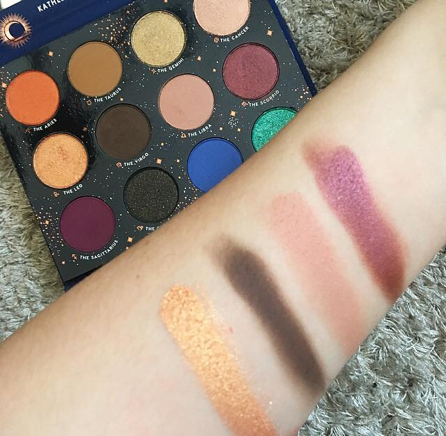 colourpop x kathleen lights zodiac palette row two