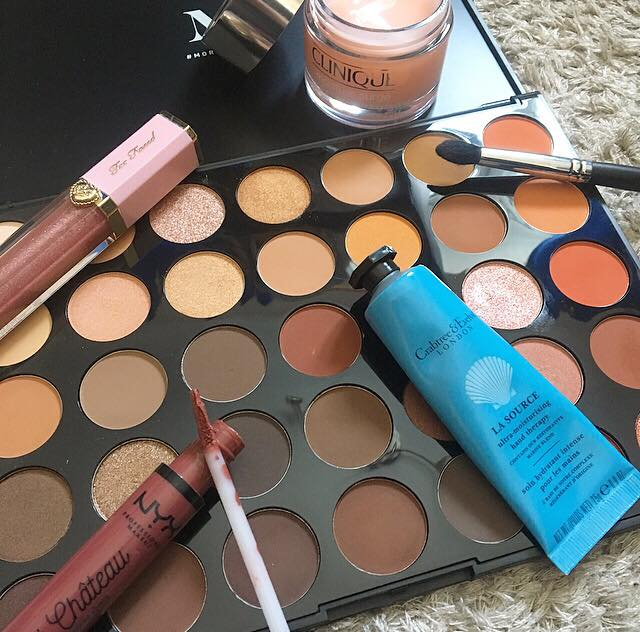 July favourites picture displaying all products mentioned in the post.