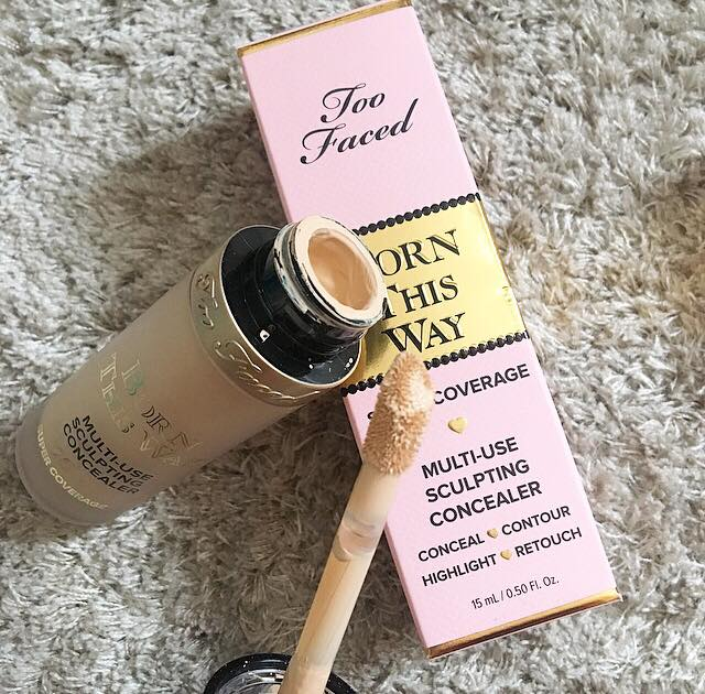 This image is of the Too Faced born this way concealer, including a close up of the doe foot applicator.