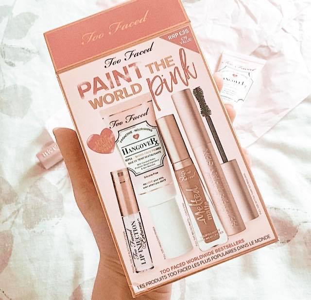 Too Faced paint the world pink set